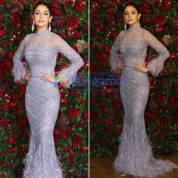 Anushka Sharma at Ranveer Singh - Deepika Padukone wedding reception