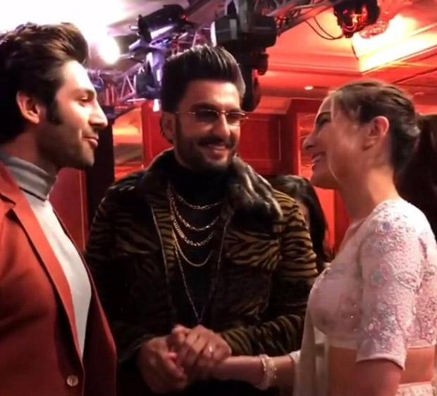 CUPID Ranveer Singh made Sara Ali Khan meet Kartik Aaryan and we have the MOMENT CAPTURED for you! (Watch video)