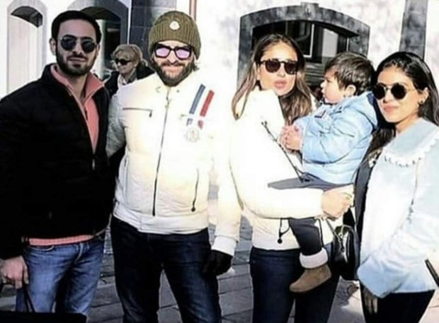 First pic out! Taimur Ali Khan can't stop staring at his gorgeous mom Kareena Kapoor Khan on his vacay to Gstaad