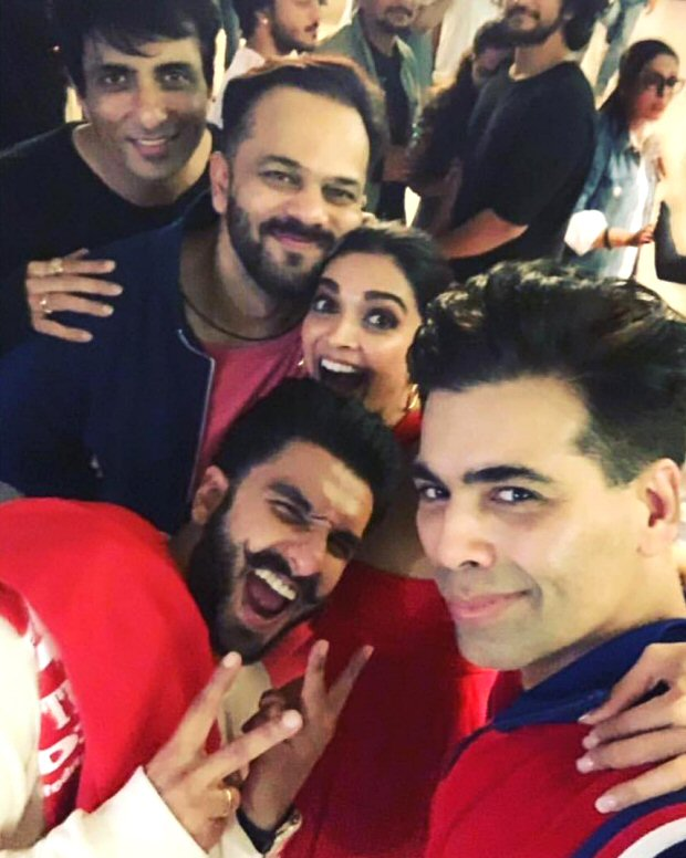 Inside pics Ranveer Singh, Deepika Padukone, Sara Ali Khan, Rohit Shetty, Karan Johar can't control their CRAZIES at the Simmba screening
