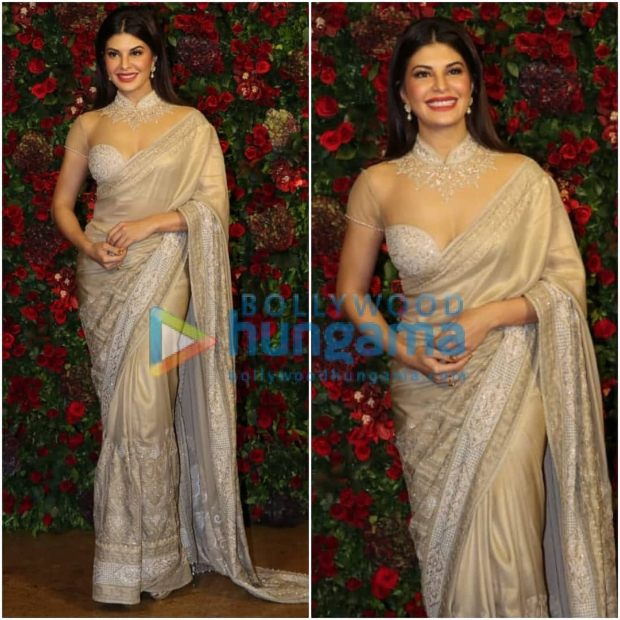 Jacqueline Fernandez at Ranveer Singh - Deepika Padukone wedding reception