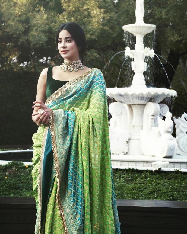 Janhvi Kapoor in Manish Malhotra for Isha Ambani wedding festivities (1)