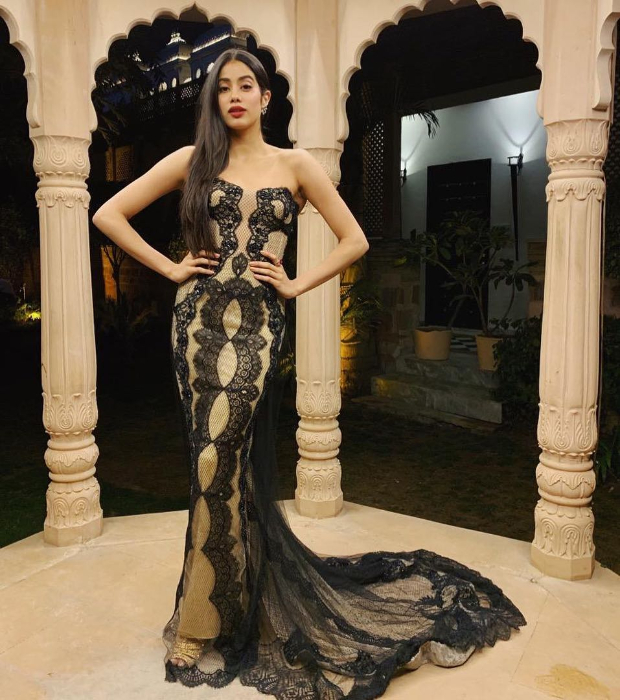 Janhvi Kapoor - The millennial stunner is always a delight! She has not only inherited the genetic jackpot of classic good looks but also a style sense to boot. Styled by Tanya Ghavri, Janhvi goes on to slay one stunning style after another that's only upped by a stunning beauty game. The pre-wedding festivities of Isha Ambani and Anand Piramal saw Janhvi Kapoor in Reem Acra ensemble. Also Read:Janhvi Kapoor smoulders all whilst competing with herself as the cover girl for L'Officiel this month! The strapless black and gold lace ensemble was form fitting and featured a trail. Janhvi accessorised her look with earrings and rings from Renu Oberoi along with open-toed gold toned sandals. Also Read:Here's the REAL reason why Janhvi Kapoor found emotional anchors in Arjun and Anshula Kapoor Side swept sleek hair, bright lips and delicately lined eyes. Also Read:Slay or Nay: Janhvi Kapoor in Topshop at #SocialForGood Facebook Liveathon On the professional front, Janhvi Kapoor debuted with Dhadak opposite Ishaan Khatter. She will be seen in the period drama, Takht by Karan Johar that features an impressive ensemble cast of Ranveer Singh, Alia Bhatt, Bhumi Pednekar, Kareena Kapoor Khan and Anil Kapoor. She will also feature in a biopic on the life and times of the brave pilot – Gunjan Saxena opposite Dulquer Salmaan.