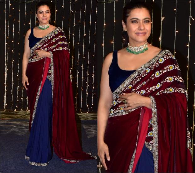 Kajol Devgan in Manish Malhotra for Priyanka Chopra - Nick Jonas wedding reception (1)