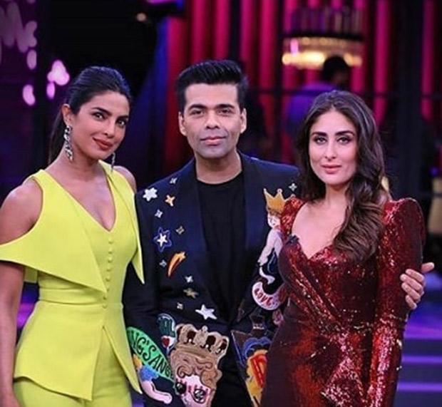 Karan Johar with Kareena and Priyanka for KWK 6 grand finale