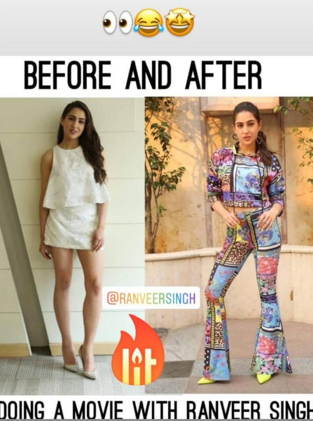 Sara Ali Khan indulges in meme war with Ranveer Singh; reveals how her style has changed after working with Simmba star