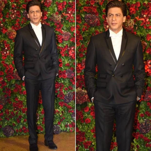 Shah Rukh Khan at Ranveer Singh - Deepika Padukone wedding reception