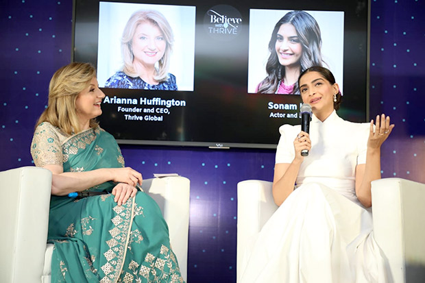 The only way to live is to not think about it too much and have incredible self-belief - Sonam Kapoor-
