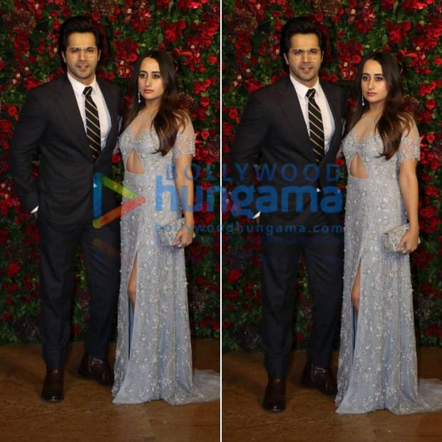 Varun Dhawan and Natasha Dalal at Ranveer Singh - Deepika Padukone wedding reception