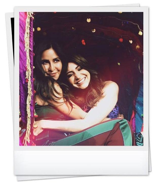 Zero stars Katrina Kaif and Anushka Sharma can't help but cuddle up, get into festive mood
