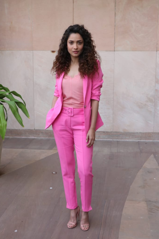 Ankita Lokhande in Cover story pink pantsuit (2)