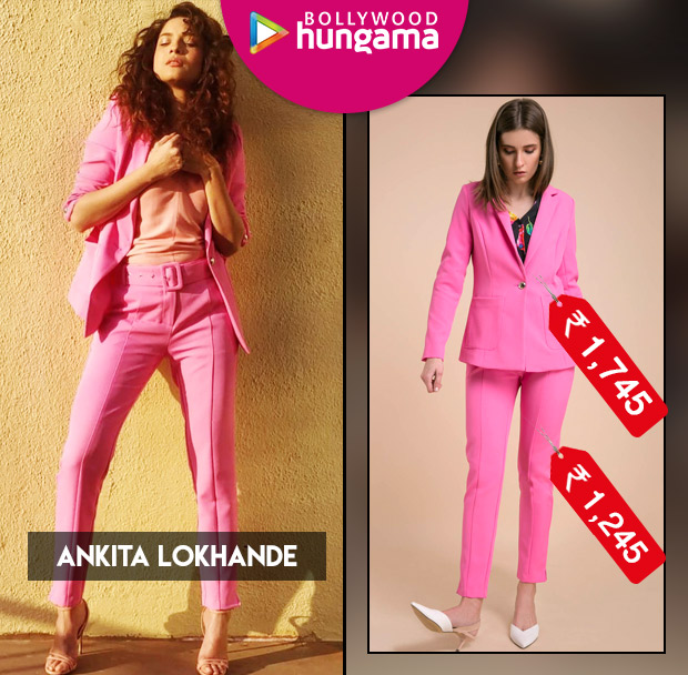 Ankita Lokhande in Cover Story pink pantsuit (