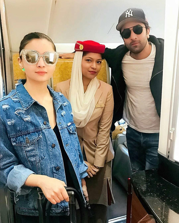 FLASHBACK! Lovebirds Ranbir Kapoor and Alia Bhatt keep it stylish as they strike a pose together in NYC