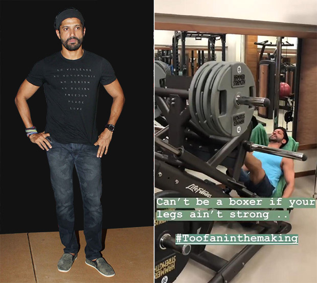 Farhan Akhtar trains for Toofan; gives a glimpse of his gymming sessions on Instagram
