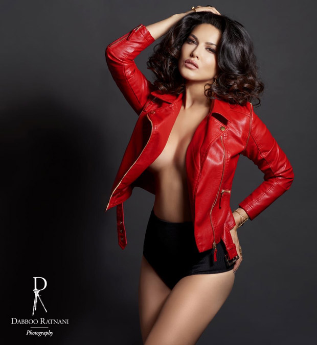 HOT! Sunny Leone sizzles in Dabboo Ratnani's 2019 calendar with an open jacket and hot pants!
