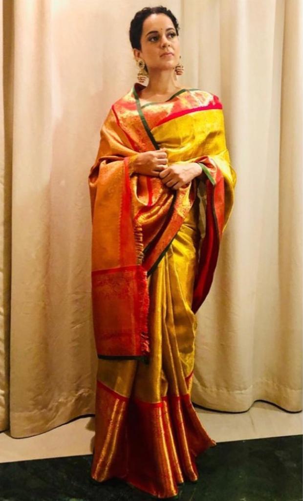 Kangana Ranaut in Madhurya Creations for Manikarnika promotions (2)