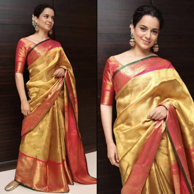 Kangana Ranaut in Madhurya Creations for Manikarnika promotions (3)