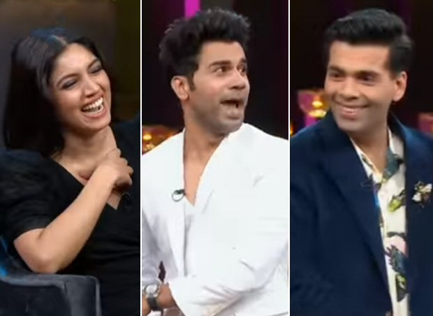 Koffee With Karan 6 Bhumi Pednekar gets competitive to win the hamper, Rajkummar Rao says he would like to be paired opposite Karan Johar if essaying gay character