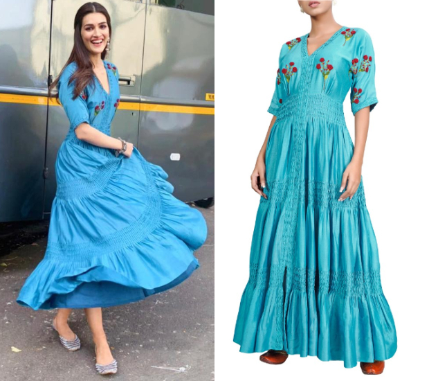 Kriti Sanon in The Right Cut and Needledust juttis for Luka Chuppi promotions (4)