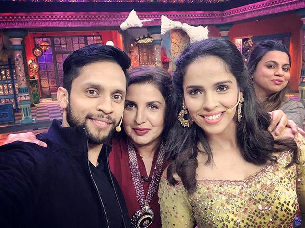 Newlyweds Saina Nehwal and Parupalli Kashyap MEET the Kanpur Wale Khuranas and Farah Khan and it was definitely a fun-filled RIDE!