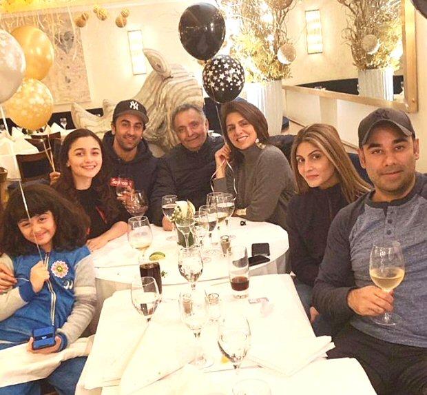 Ranbir Kapoor and Alia Bhatt celebrate New Year's together, Neetu Kapoor drops a major hint about Rishi Kapoor's illness (see INSIDE pics)