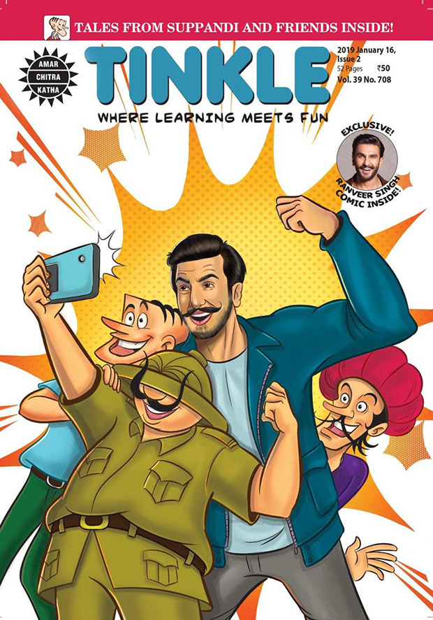 Ranveer Singh has a 'pinch me' moment after being featured on Tinkle magazine