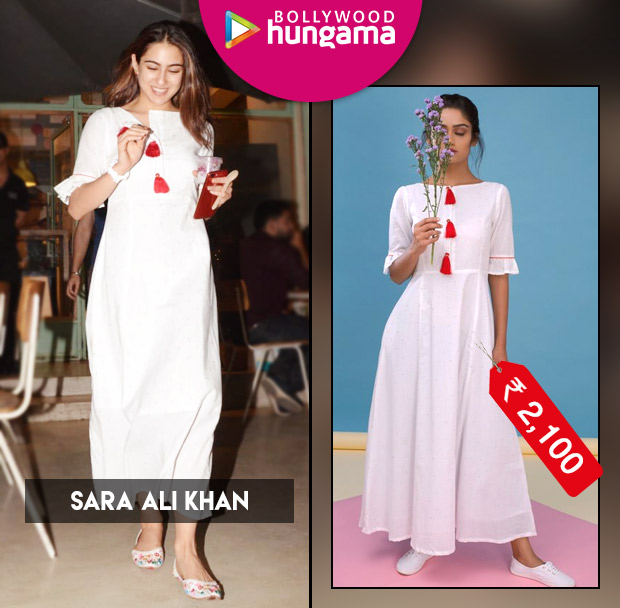 Sara Ali Khan in INR 2,100 white gown with red tassels from Spring Diaries Store (5)