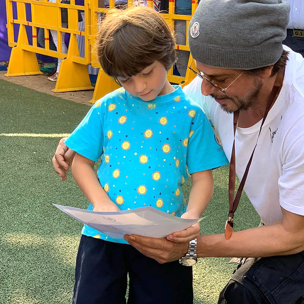 Shah Rukh Khan and Aryan Khan share cutesy moments with little one AbRam Khan