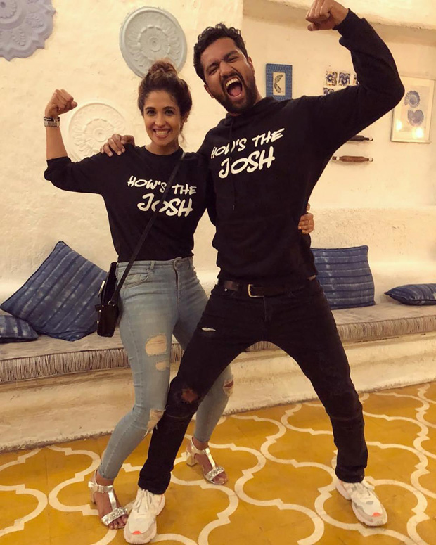 Vicky Kaushal and rumoured girlfriend Harleen Sethi feel in the JOSH after film's success