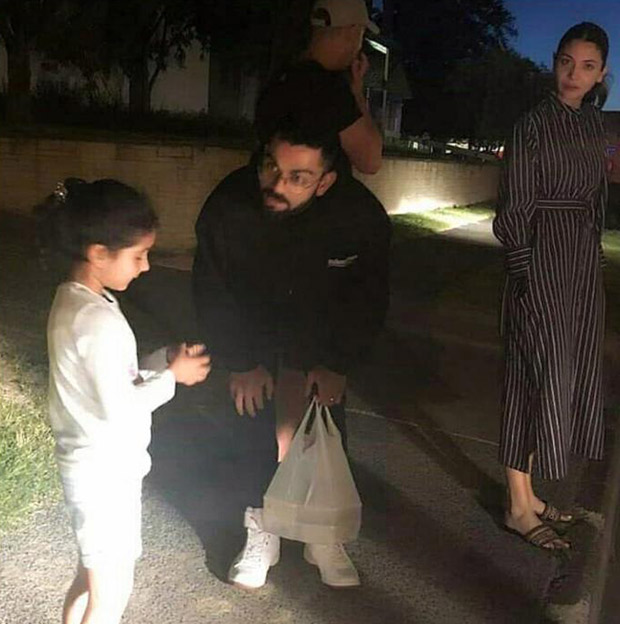 Virat Kohli meets with his cute little fan in New Zealand, wife Anushka Sharma looks on (see pic)