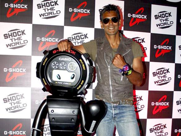 Milind Soman unveils latest G-Shock watch   Photo Of Milind