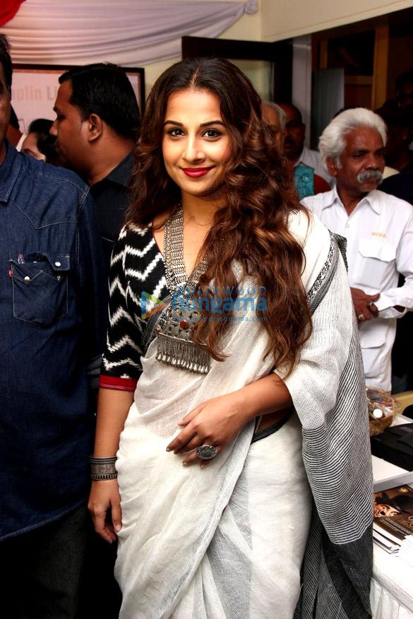 Vidya Balan inaugurates 'Chaplin Art' exhibition