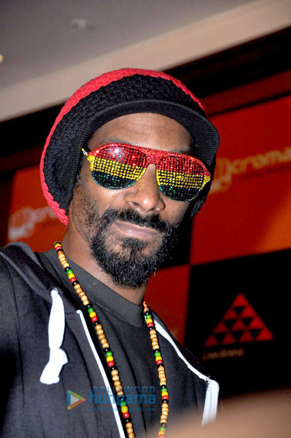 Snoop Dogg snapped attending a press conference in India