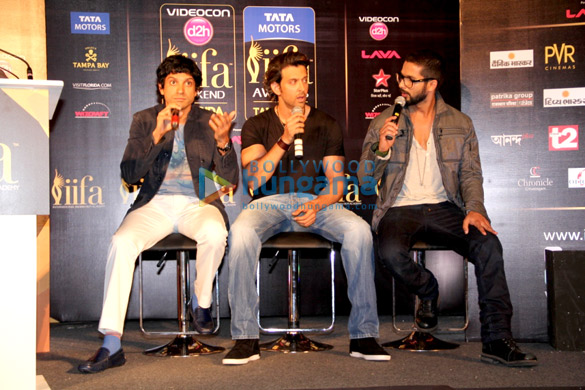 Hrithik, Farhan & Shahid grace the IIFA Awards 2014 press meet