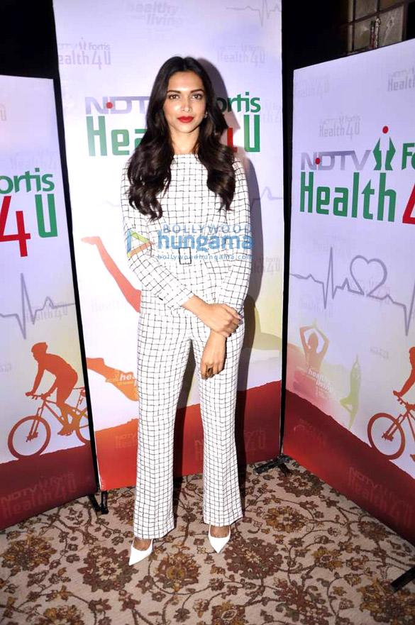 Deepika Padukone launches 'NDTV & Fortis Health 4U' campaign