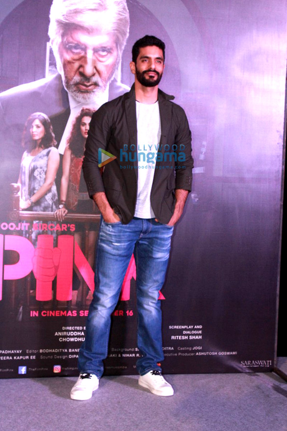 Amitabh Bachchan Taapsee Pannu At The Trailer Launch Of Pink Angad Bedi Images Bollywood Hungama