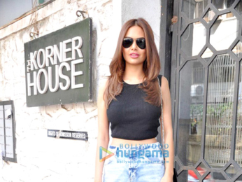Esha Gupta snapped at the Korner House for lunch