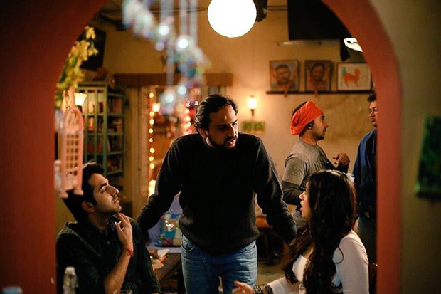Ayushmann Khurana and Bhumi Pednekar on the sets of Shubh Mangal Saavdhan
