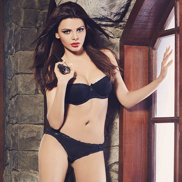 HOTTIE ALERT: Sherlyn Chopra is raising the temperatures in sexy black lingerie