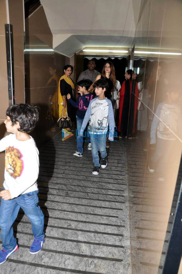 Hrithik Roshan and Sussane Khan with kids snapped at PVR