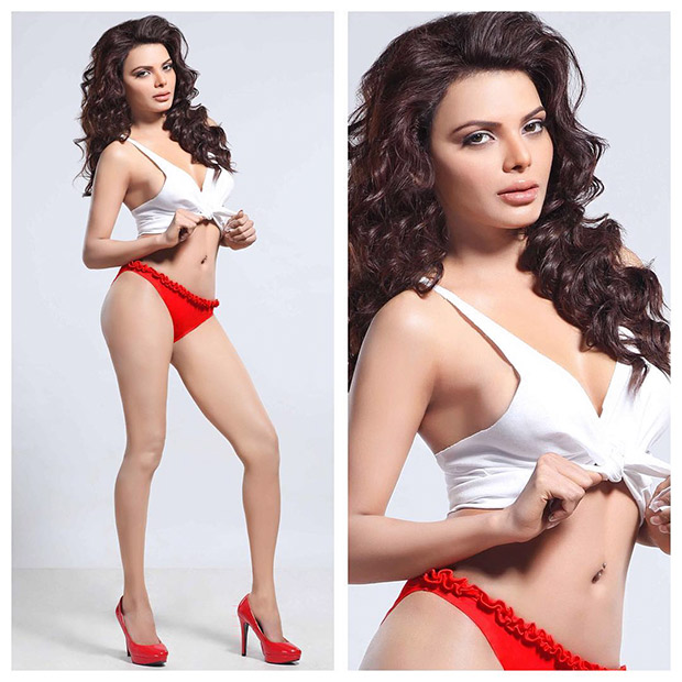 SEXY: Sherlyn Chopra looks HOT in red and white