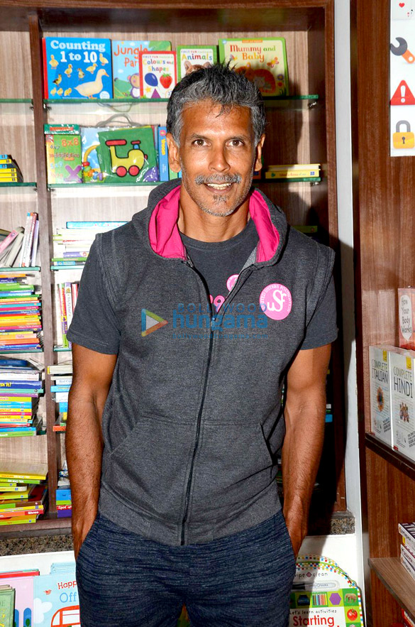 Milind Soman snapped at a book launch in Bandra