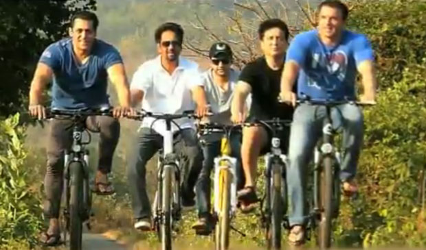 Salman Khan and Sohail Khan in the latest advert for the Being Human cycle range
