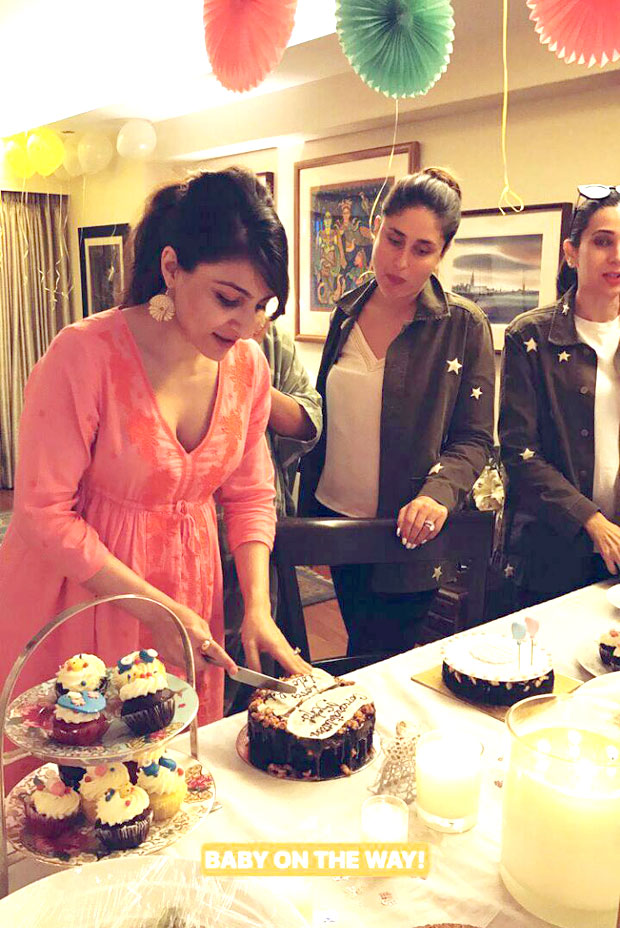 INSIDE VIDEO: Soha Ali Khan cuts a cake and enjoys her baby shower with Kareena Kapoor Khan and Karisma Kapoor