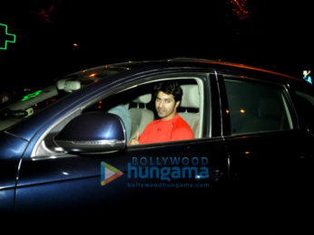Varun Dhawan snapped post his gym session