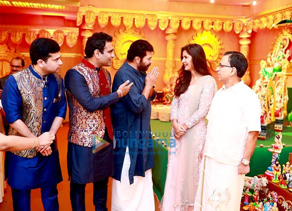 Katrina Kaif & Mammootty at the Navratri celebrations organized by Kalyan Jewellers