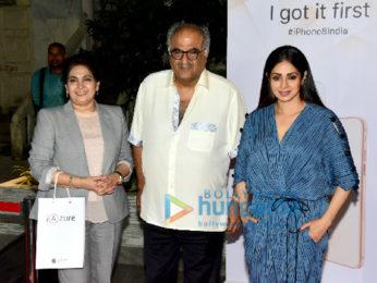 Sridevi and Boney Kapoor snapped at the iAzure store in Mumbai