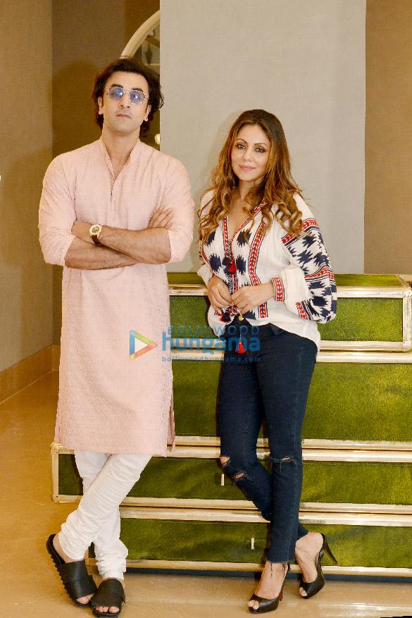 Ranbir Kapoor visits Gauri Khan's designs store in Juhu