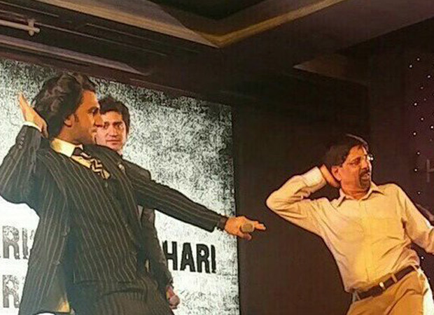Check out Ranveer Singh's gives a sweet kiss to Kapil Dev; dances with Srikkanth at '83 launch 0(3)