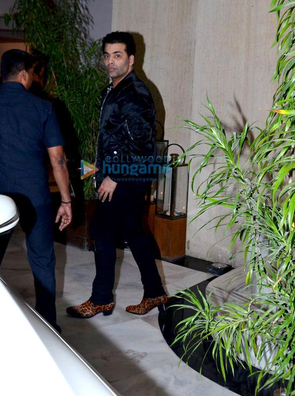 Karan Johar and Sidharth Malhotra snapped post dinner at Manish Malhotra's house